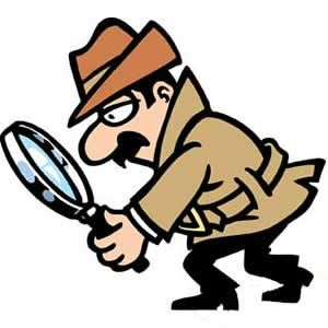 Magnifying Glass Detective Clipart.