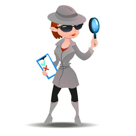 1,473 Detective Woman Stock Vector Illustration And Royalty Free.