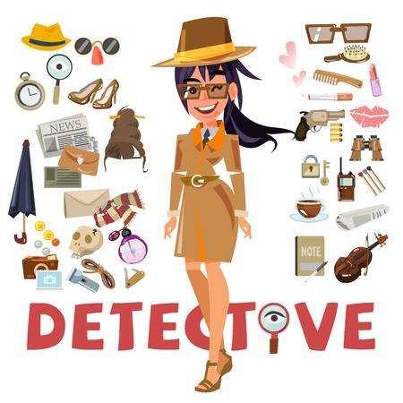 784 Female Detective Stock Vector Illustration And Royalty Free.