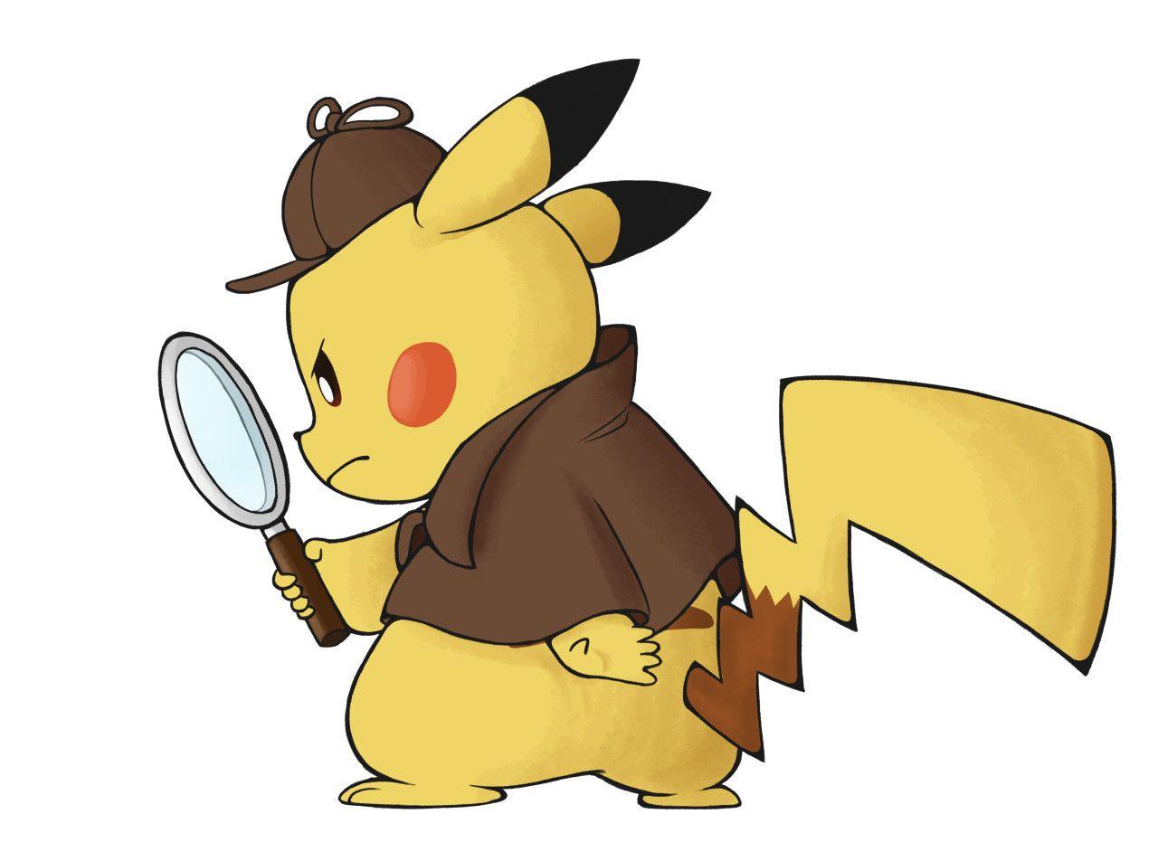 detective pikachu clipart.