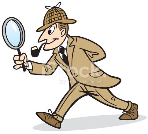 Detektyw Stock Vector.