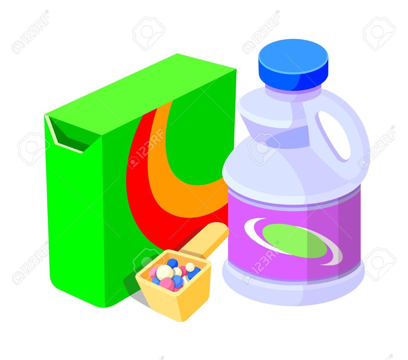 Free clip art laundry detergent.