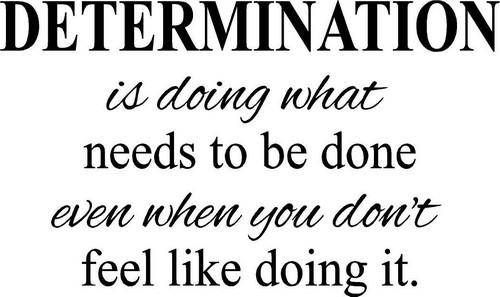 Determination Quotes.