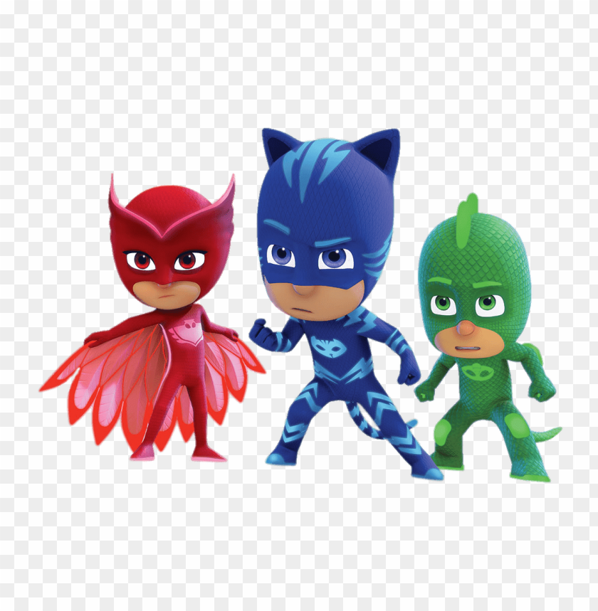 Download pj masks determined faces clipart png photo.