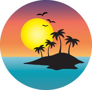 Clip Art Tropical Destinations.