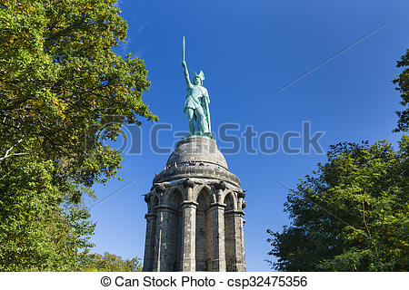 Stock Images of Hermannsdenkmal in Detmold, Germany.