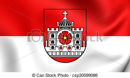 Pictures of Flag of Detmold City (North Rhine.