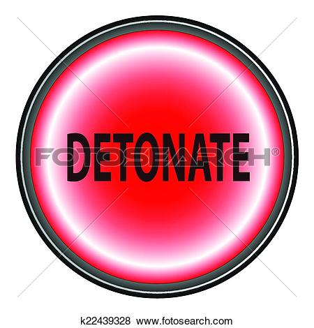 Clip Art of Detonate Button k22439328.
