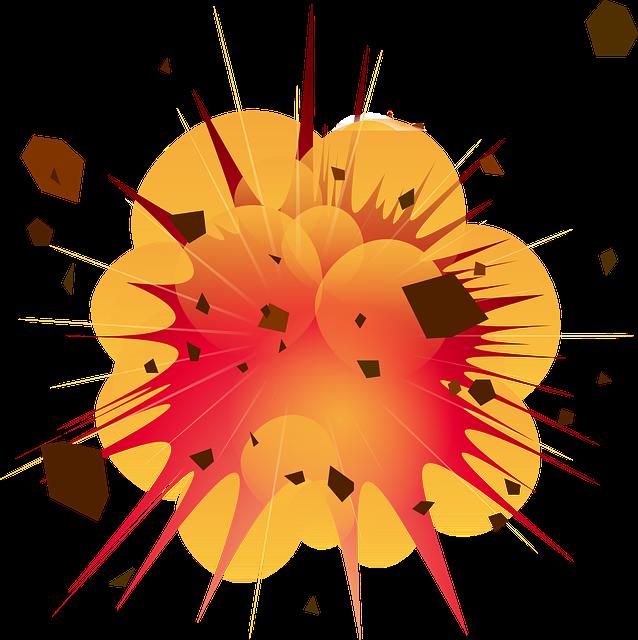 Free vector graphic: Explosion, Detonation, Boom, Bomb.