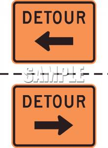 Signs With Left and Right Arrows.