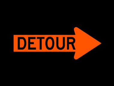 Detour Signs Clipart.