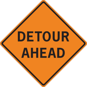 Detour sign clip art.