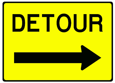 Free clipart road signs detour.