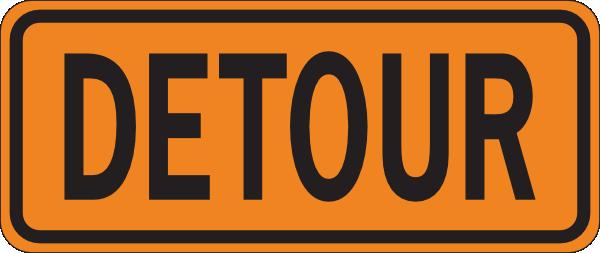 Detour Sign Clip Art at Clker.com.
