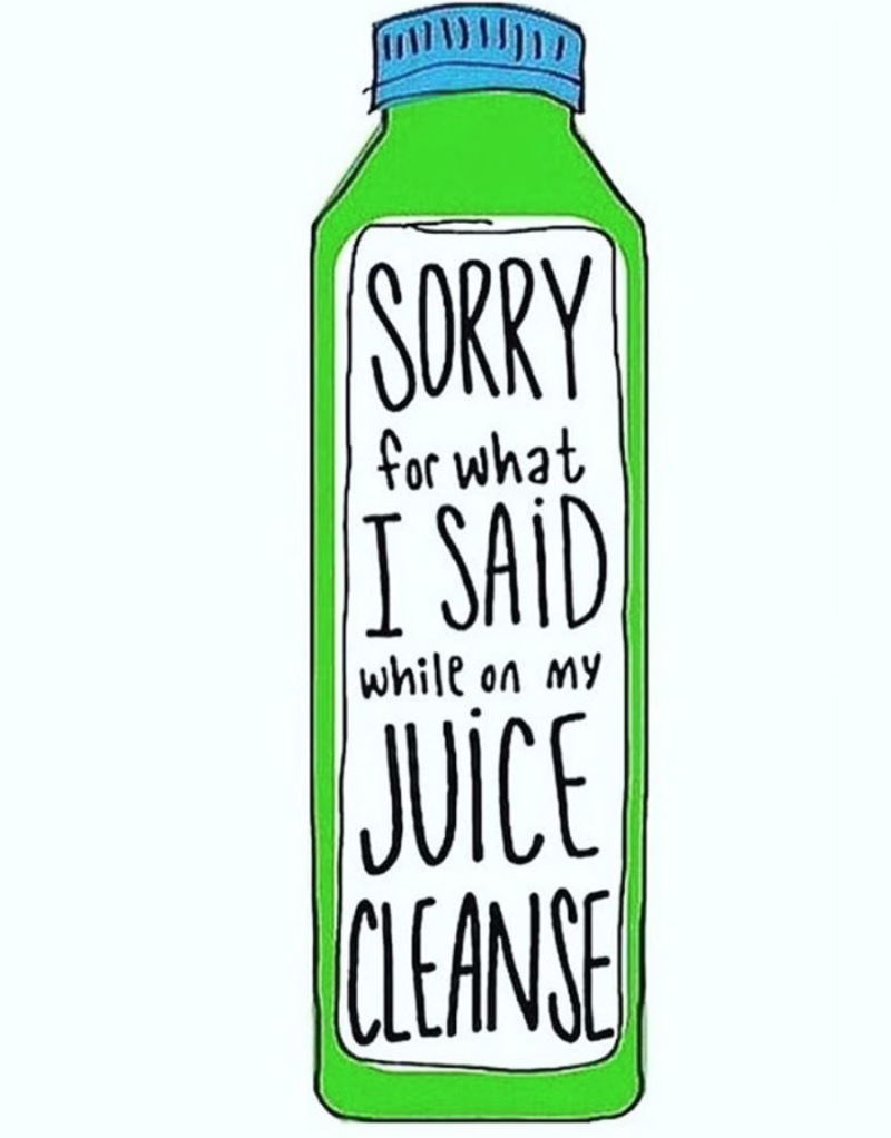I AM TRYING A DETOX JUICE CLEANSE FOR 1 DAY.