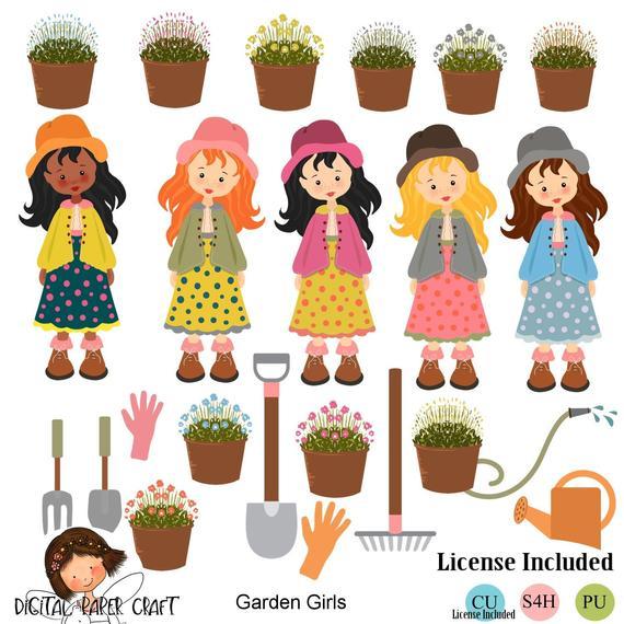 Garden Clipart, Garden Tools Clipart, Gardening Clipart.