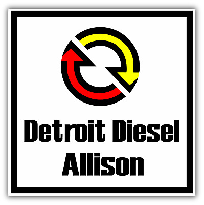DETROIT DIESEL ALLISON Heavy Duty Engine Logo Vinyl Sticker.