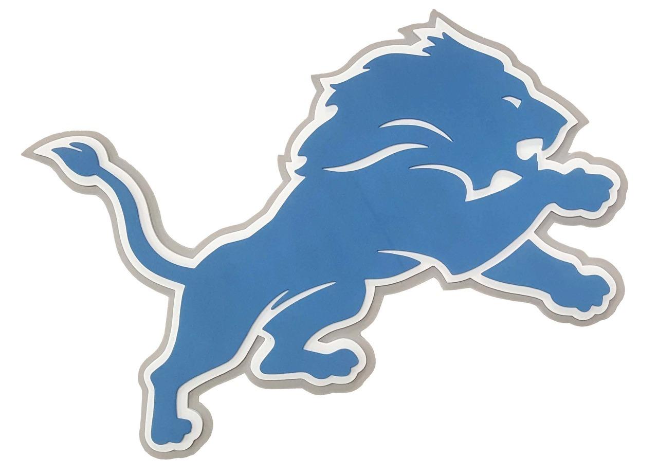Detroit Lions 3D Fan Foam Logo Sign.