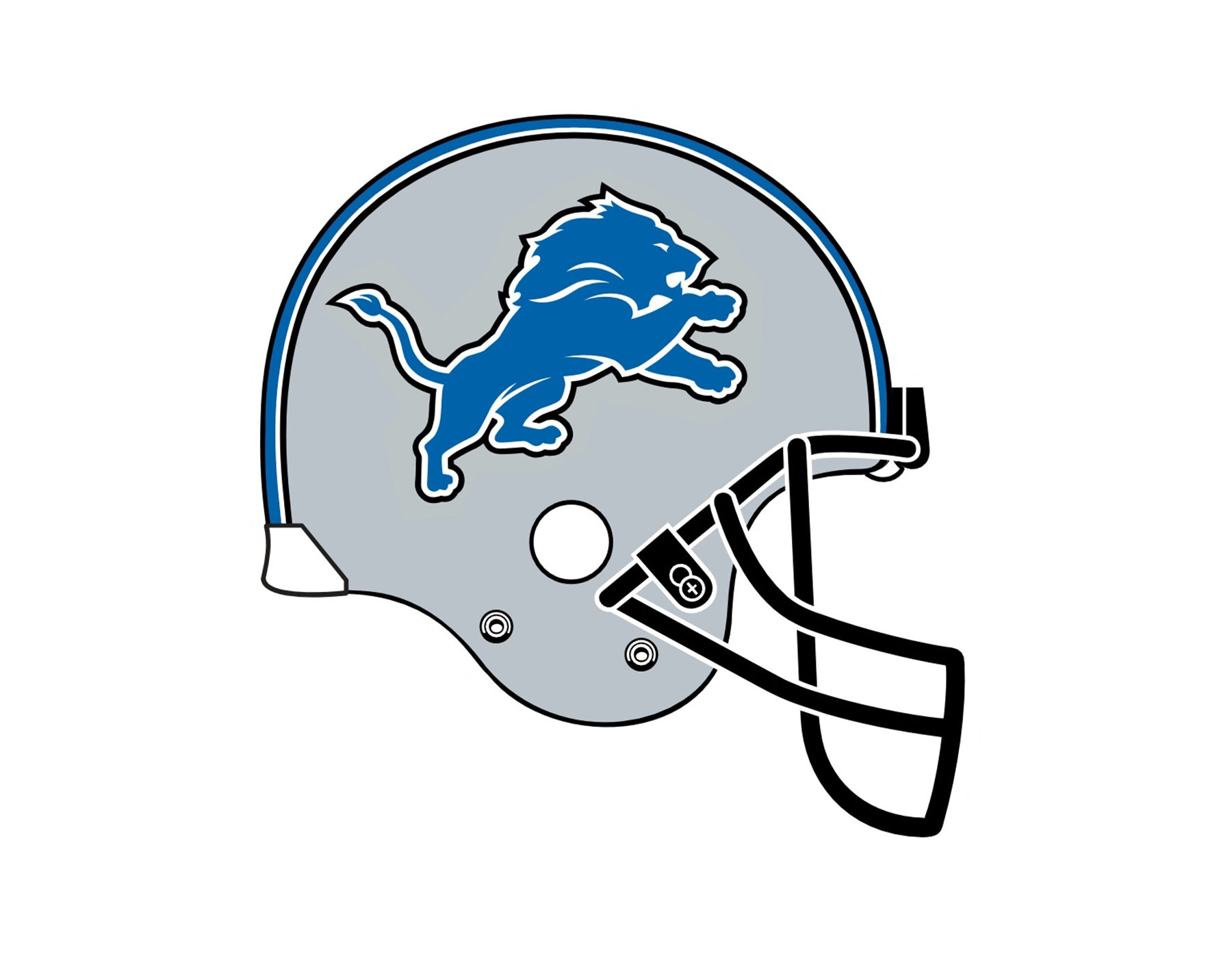 Detroit Lions Ford Field NFL American Football Helmets.