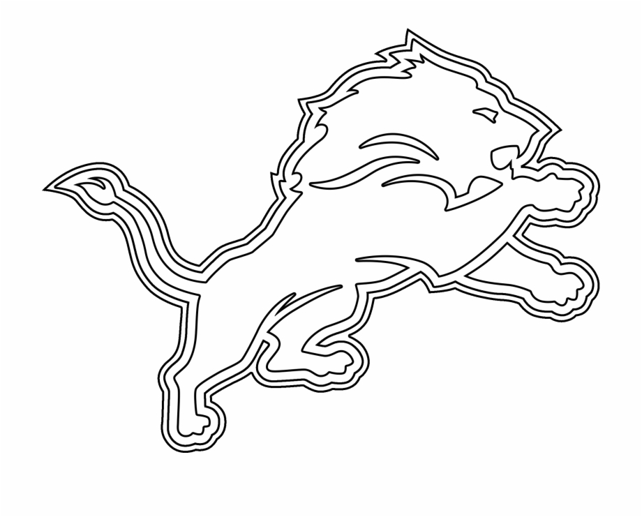 Detroit Lions Logo Coloring Page 6 By Carol.