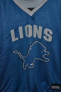Details about Detroit Lions NFL Flag Reversible Football Jersey Youth XL  Old Logo Throwback.