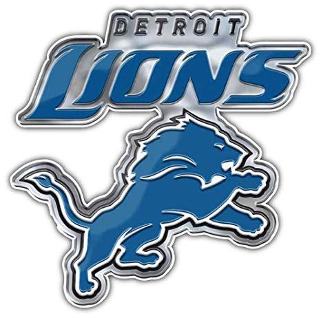 Detroit Lions NFL Silver Logo Car Bumper Sticker Decal 5\'\' X 5\'\'.