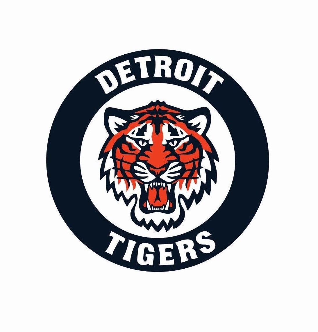 Detroit Tigers MLB Baseball Color Logo Sports Decal Sticker.