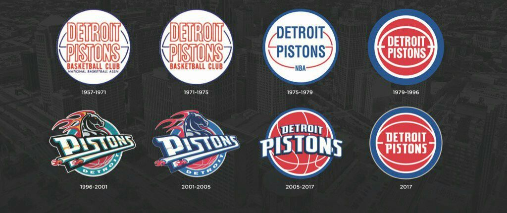 Detroit Pistons logo history.