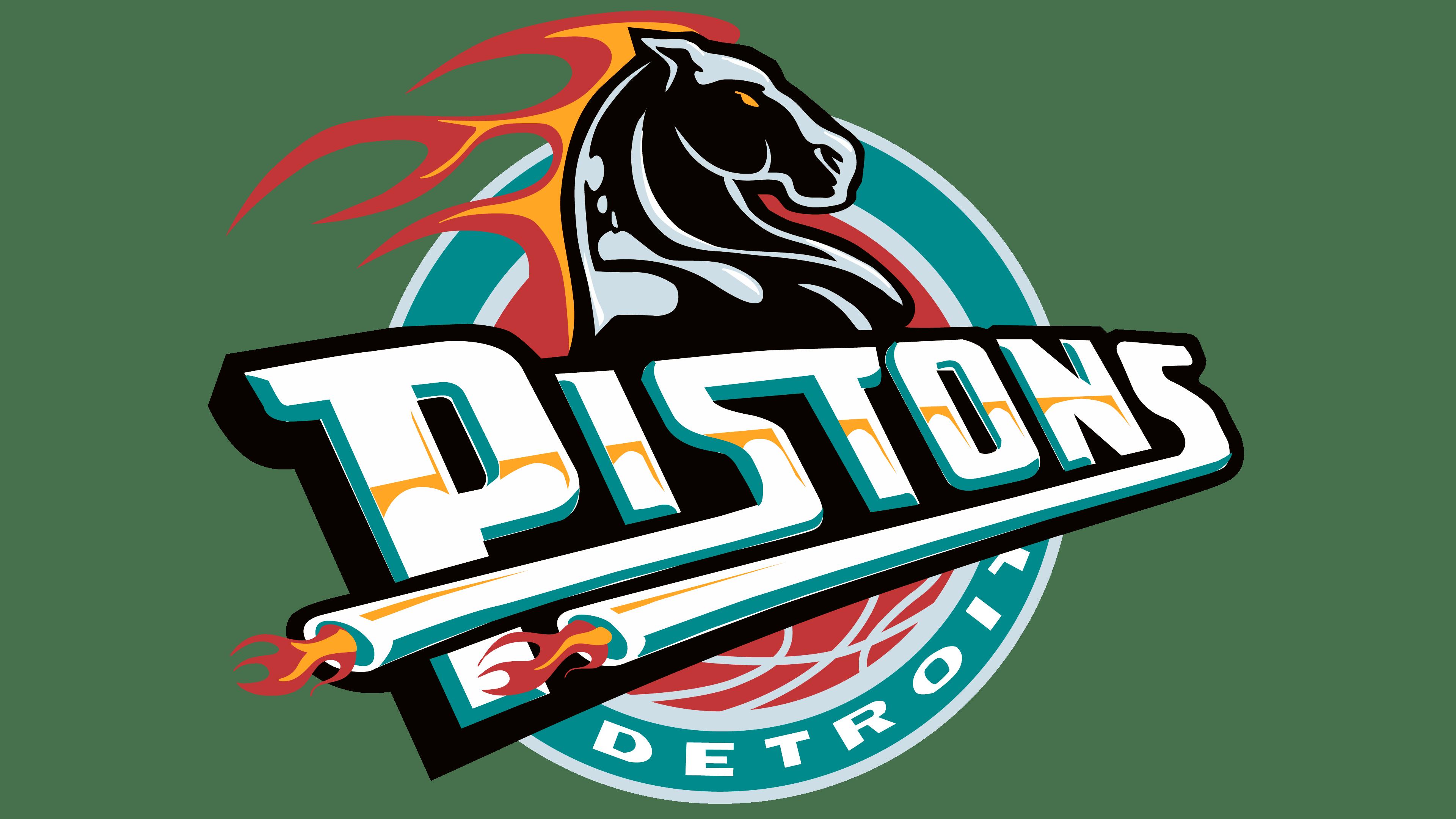 Detroit Pistons Logos.