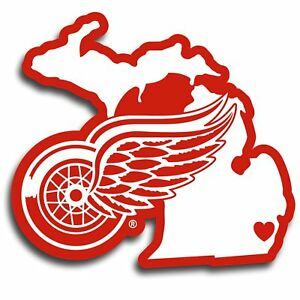 Details about Nhl rico industries Detroit Red Wings state stickers  *New*Free Shipping*.