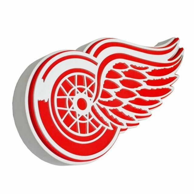 New NHL Detroit Red Wings 3D Fan Foam Logo Holding Wall Sign Made in USA.