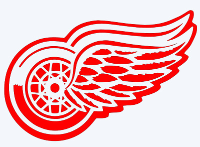 DETROIT RED WINGS Logo Decal Car Window Sticker.