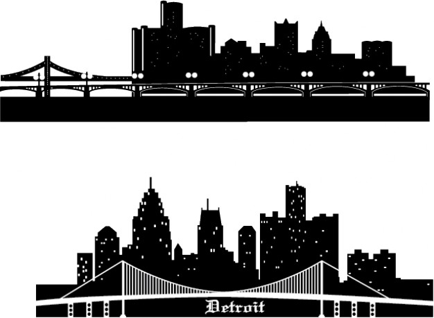 Free Detroit Skyline Silhouette Vector, Download Free Clip.