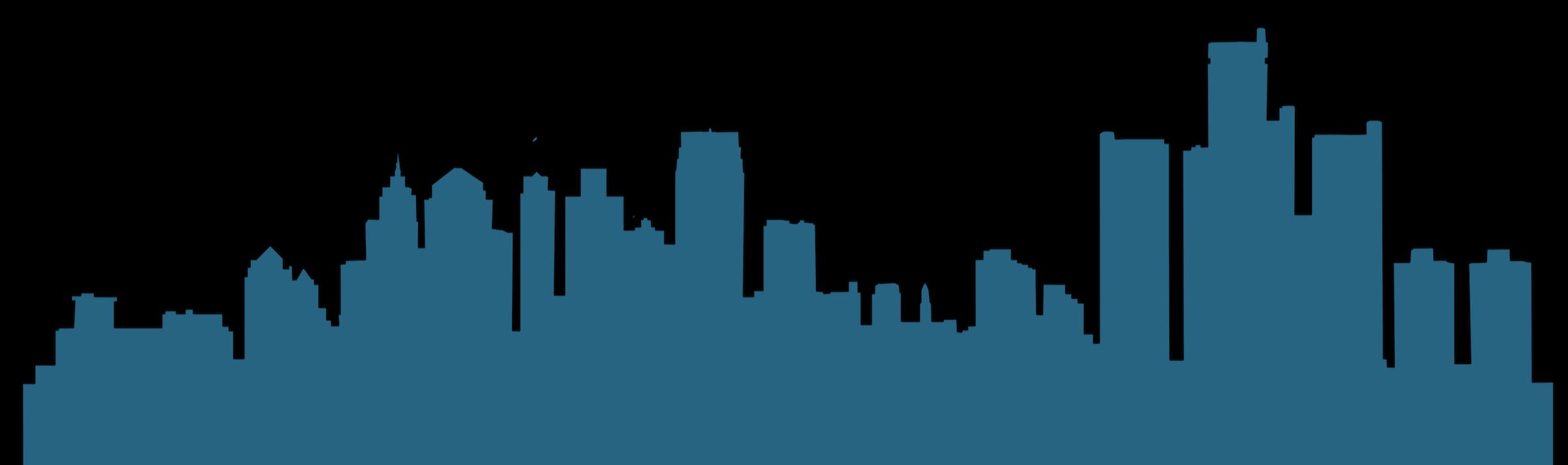 Detroit Vector graphics Skyline Silhouette Illustration.