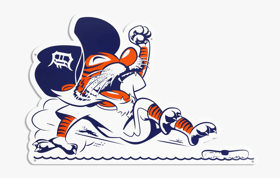 Detroit Tigers Sign Sticker.