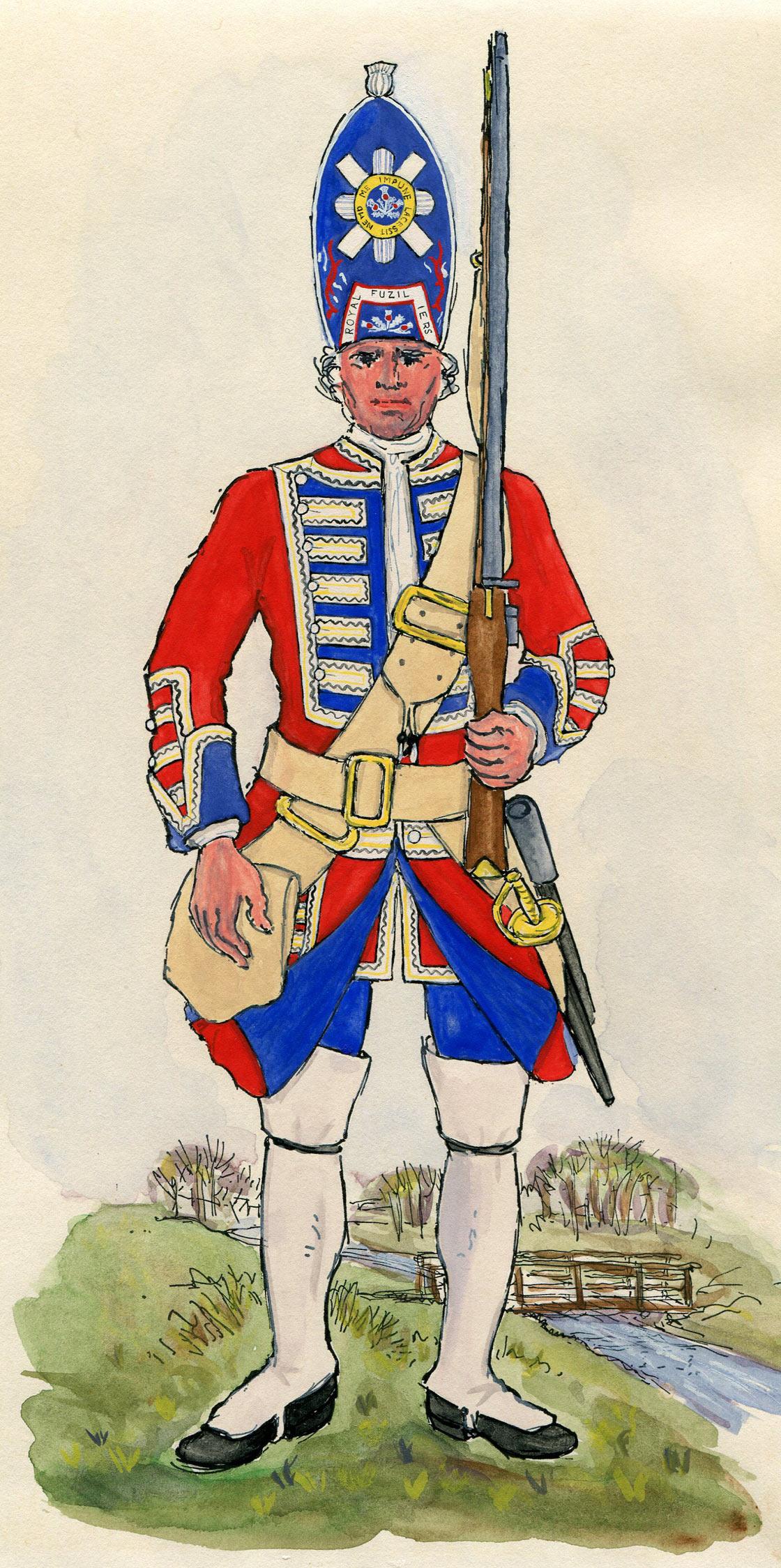 The Battle of Dettingen 1743.