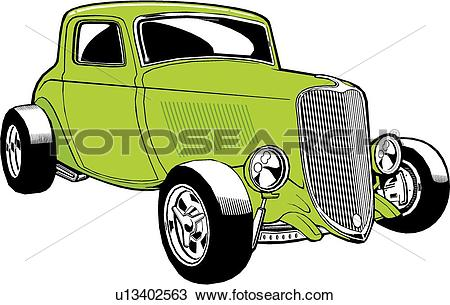 Clipart of car, auto, automobile, cars, autos, automobiles, deuce.