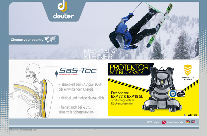 New Deuter Website.