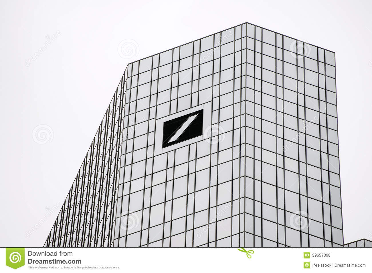 The Deutsche Bank AG Building Editorial Stock Photo.