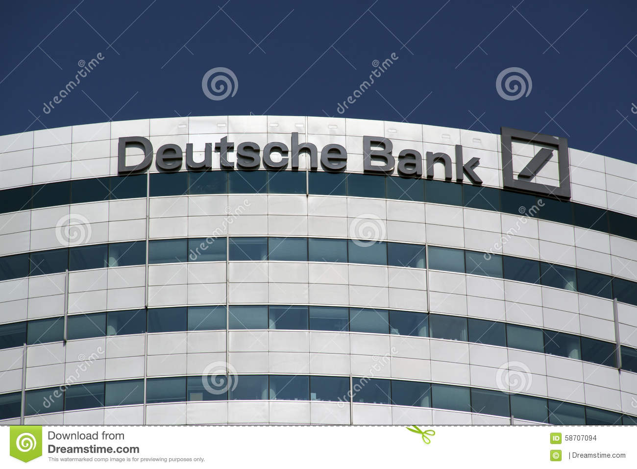 Office Of The Deutsche Bank In Amsterdam Editorial Stock Image.