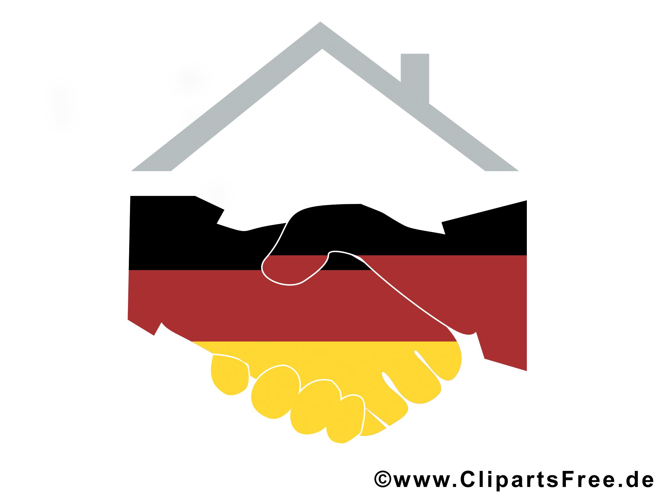 Cliparts deutsche einheit.