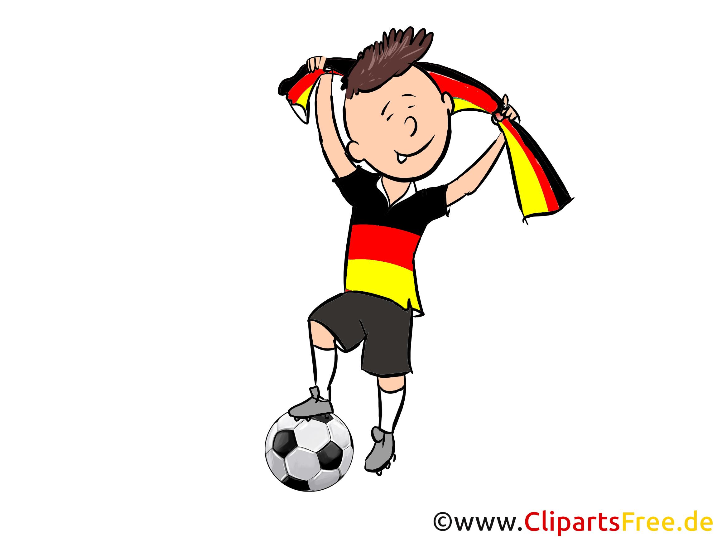 Deutschland Fussball Bilder, Cliparts, Cartoons, Grafiken.