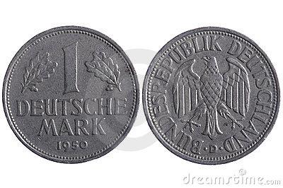 Deutsche Mark Money Paper Minimal Vector Graphic Design Stock.