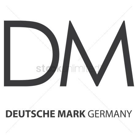 Free Deutsche Mark Currency Stock Vectors.