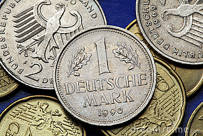 Coins Of Germany Stock Photo.