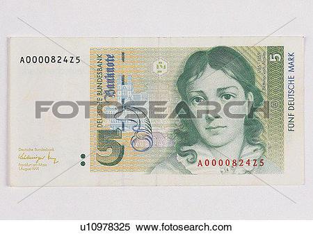 Stock Image of Deutsche mark, money, note, cash, business, Germany.