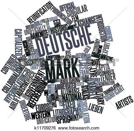 Stock Illustration of Word cloud for Deutsche Mark k11709276.