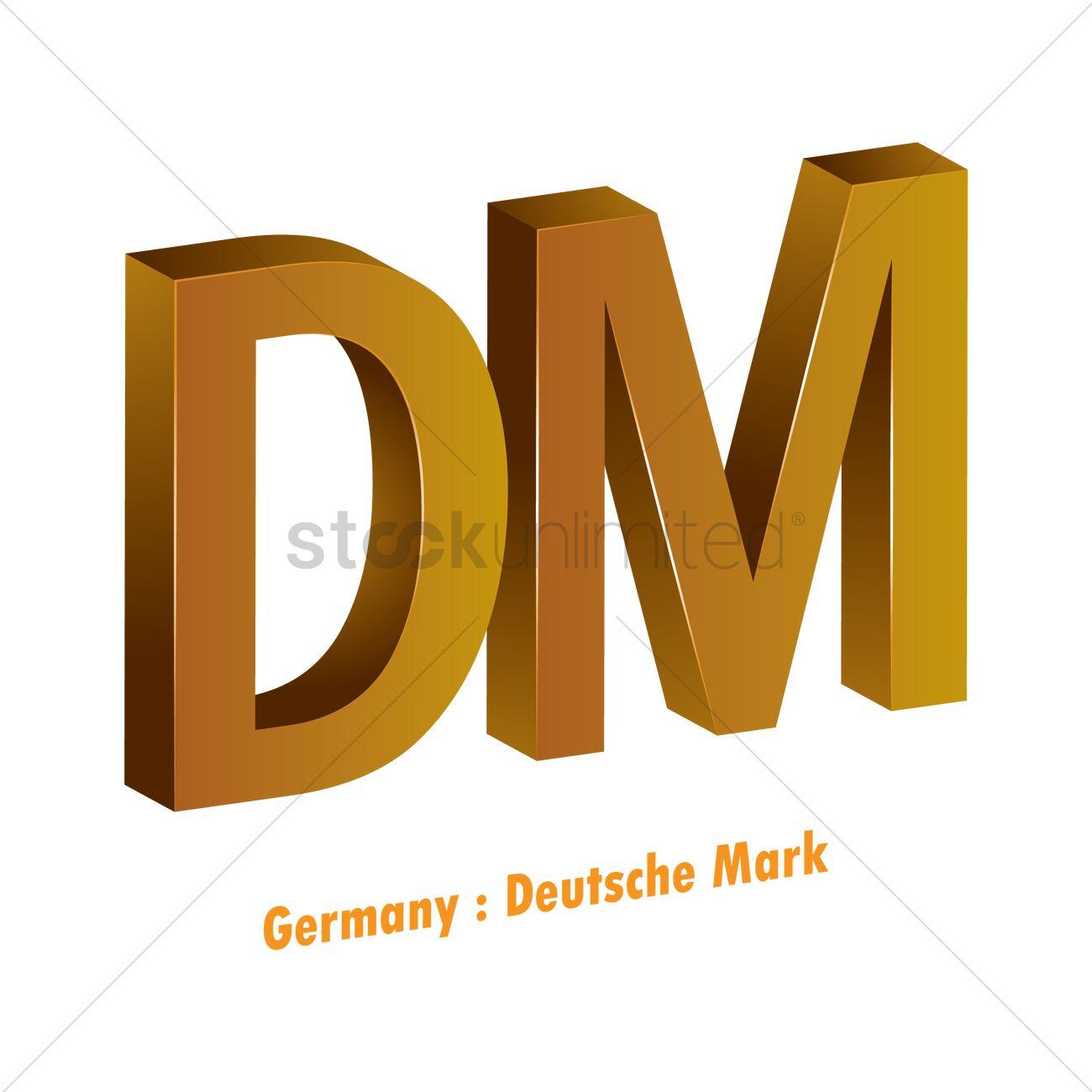 Deutsche mark currency symbol Vector Image.