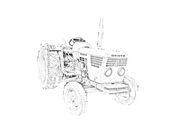 Altro disegno del trattore Deutz Fahr D 40 06 da stampare e.