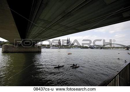 Stock Images of Germany, Cologne, Bridge over Rhein 08437cs.